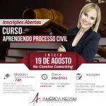 19/08/2019 – CURSO APRENDENDO PROCESSO CIVIL.